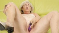purple porn mature mat alex mature grandma playing purple dildo