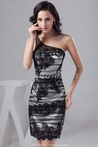 sexy mature pri exquisite workmanship sexy mature classic black white knee length silk like satin evening dress