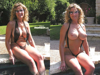 topless mom pics mom hot bikini swimming pool topless