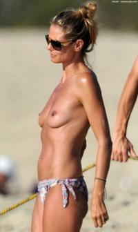 topless mom pics photos heidi klum topless beach mom hard work photo
