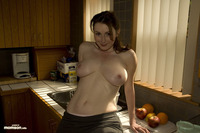 topless mom pics busty topless mom kitchen
