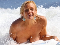 topless mom pics patricia krentcil topless beach pics tanning mom again viewer discretion advised