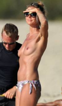 topless mom pictures photos heidi klum topless beach mom hard work photo