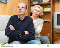 wife mature pic wife asking husband forgiveness guilty mature stock photo