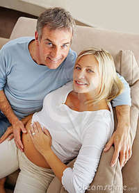 wife mature pic mature man touching his pregnant wife belly royalty free stock photos