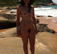 wife porn gallery amateur porn hairy wife sunbathing nude beach photo