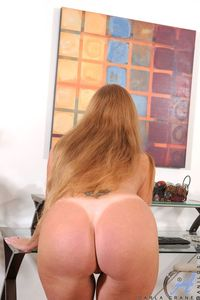 ass mature ass mature redheaded woman thong tan lines