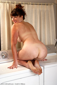 ass mature brunette ass mature milf wife gets naked washer