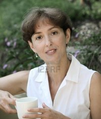 beautiful mature barsik beautiful mature woman cup coffee photo