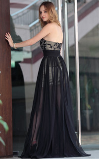 black mature nimg efa floor length strapless line black mature evening dresses bridesmaids dress products search