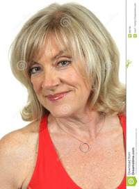 blond mature mature beauty knowing smile royalty free stock