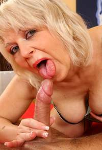 blonde mature blonde mature lady having blond sucking cock