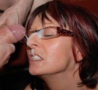 cum mature mature amateur bukkake slut ruby gets cum covered glasses category facials