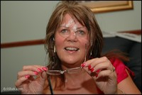 cum mature afu facials bukkake parties from gets some furious glasses covered thick cum ropes cheeks hair dripping look that bright smile face