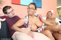 double mature handjob busty mature gives double