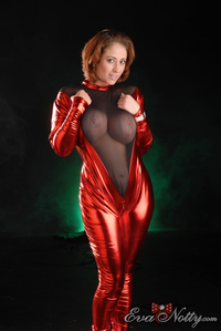 eva mature large ahuzaztpj busty mature eva notty short hair wearing red dress
