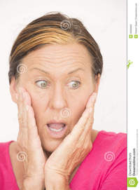 facial mature shocked worried woman portrait attractive mature surprised anxious concerned facial expression isolated white stock photos