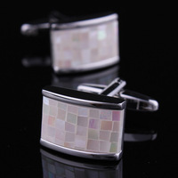 france mature item free shipping high grade shell style end bussiness cufflinks france mature wealth charming beaut gift
