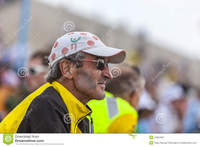 france mature profile veteran fan tour france mont ventoux july mature man watching road apparition cyclists royalty free stock photography