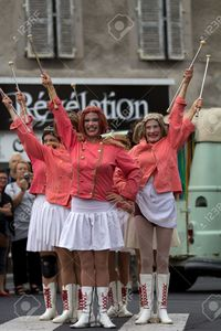 france mature allg aurillac france august dress parade mature majorettes part international stock photo