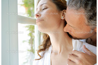 french mature depositphotos mature man kissing womans neck large french window stock photo
