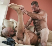fuck mature gay daddy bear fucking hairy mature older bareback beard duo beefy men