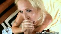 hot mature milf blonde mature milf giving sexy blowjob lucky guy