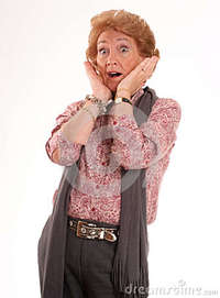 lady mature shocked mature woman royalty free stock photography