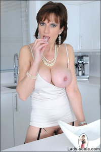 lady sonia mature gallery lady sonia busty milf teases nipples