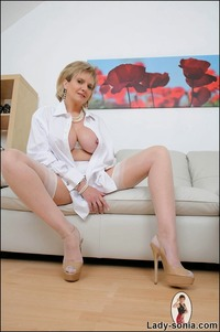 lady sonia mature british milf lady sonia sexy coat
