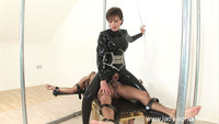lady sonia mature gallery milf lady sonia fucks slave rubber catsuit