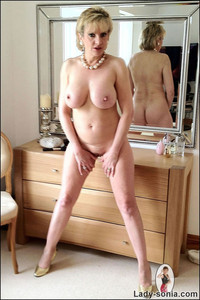 lady sonia mature gallery perfect bodied mature blonde lady sonia boobs posing
