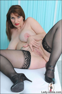 lady sonia mature sexy stockings lady sonia huge natural tits british mature wearing stockin