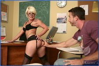 mature teacher mature teacher glasses summer storm banged facialized naked