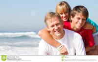 mature and teen mature father teen kids royalty free stock