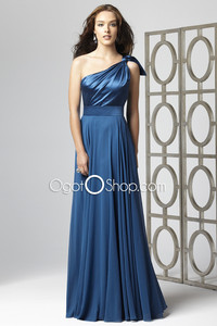 mature and young dress one shoulder royal blue prom young mature women oneshoulder