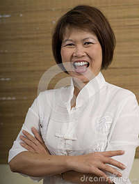 mature asian happy asian woman mature laughing royalty free stock