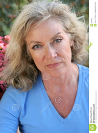 mature blonde mature beauty worried royalty free stock