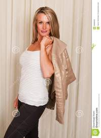 mature blonde casual dress stock photos