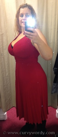 mature curvy bonmarche david emanuel red pleated