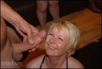 mature facial pins nice healthy cum bath british milf