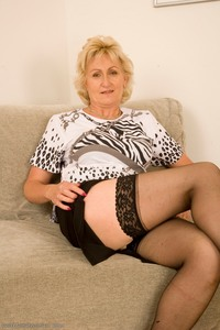 mature gilf showcases yeata mature gilf stockings blonde black lingerie kitchen quot fetish