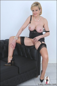mature hooters little black dress curvy mom