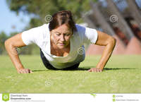 mature legs mature woman doing push exercise royalty free stock