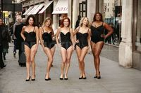 mature lingerie scale large photos mature models protest their lingerie oxford street news all media