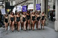 mature lingerie scale large photos photo mature models protest their lingerie oxford street