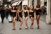 mature lingerie scale large photos mature models protest their lingerie oxford street news