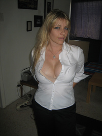 mature milf bra basic white bra milf slut cleavage stacked wife posing