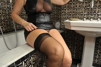 mature nylon galleries daccd miss nylon wet soapy stockings