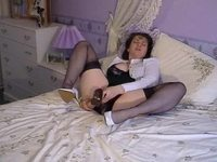mature nylons videos screenshots preview mature nylons puts toy pussy